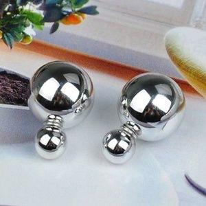 Solid Silver Double Sided Earrings